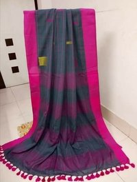 Khadi Cotton Checks Sarees