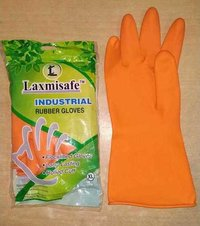 laxmi safe orange rubber gloves
