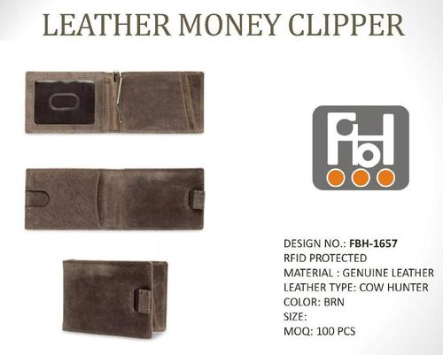 Leather Money Clipper