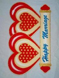 Thermocol decorative heart
