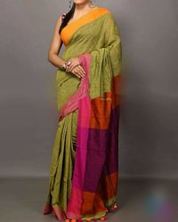 Khadi Cotton Plain Sarees