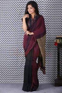 Khadi Cotton Gicha Work Sarees