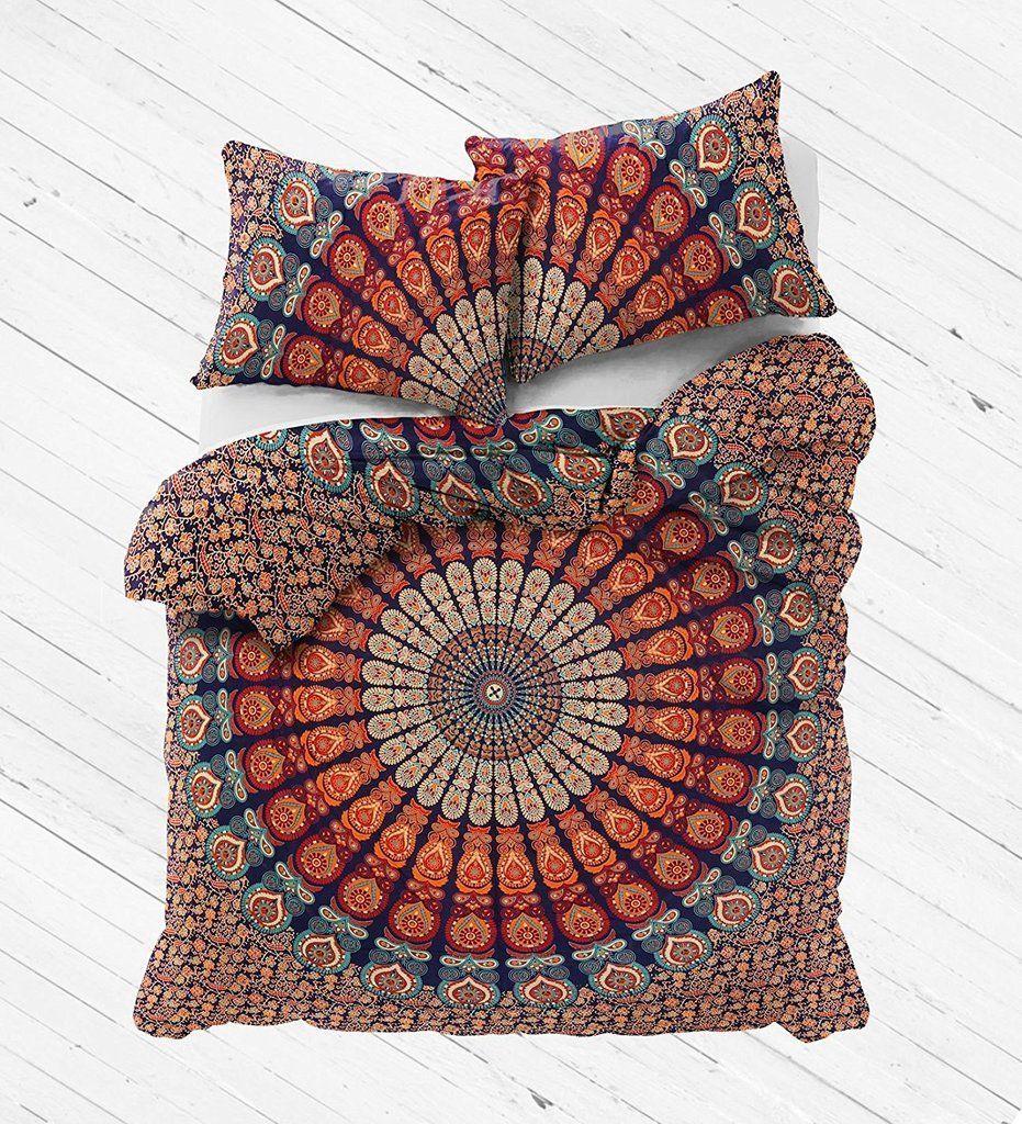 Indian Mandala Cotton Round Duvet Cover