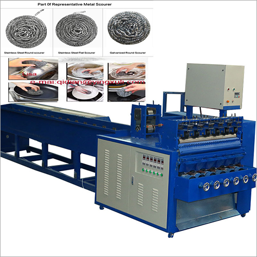 6 Wire 6 Ball Combined Scrubber Making Machine