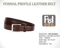 Formal Profile Leather Belt