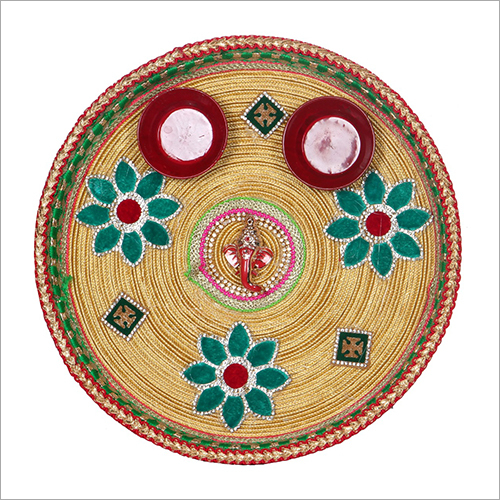 Decorative Pooja Plate