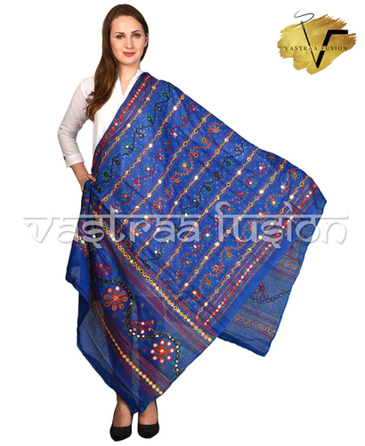 Ladies Embroidered Line Pattern Dupatta