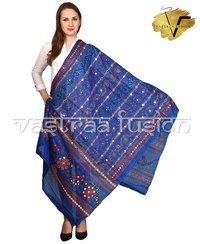 Ladies Embroidered Star Pattern Dupatta
