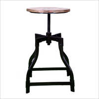 Iron Revolving Bar Stool