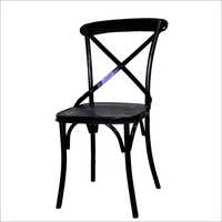 Iron Cross Back Chair