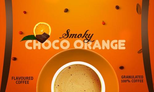 Choco Orange flavoured coffee