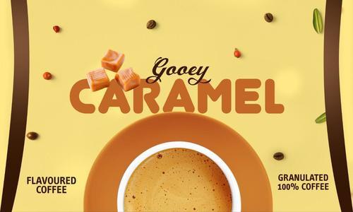 Caramel flavoured coffee