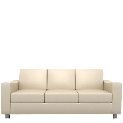 Office Three Seater Leather Sofa