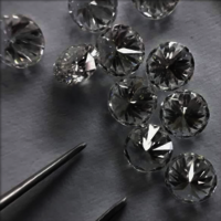 Cvd Diamond 3.40mm to 3.50mm DEF VS SI Round Brilliant Cut Lab Grown HPHT Loose Stones TCW 1