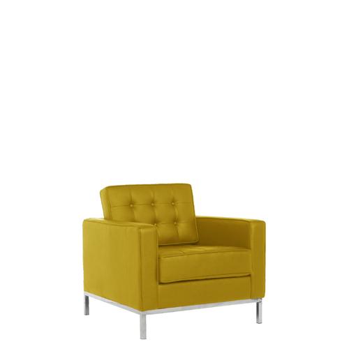 Leather Single Seater Cushion Sofa