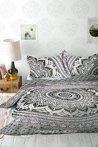 Indian Mandala Cotton Black Circle Duvet Cover