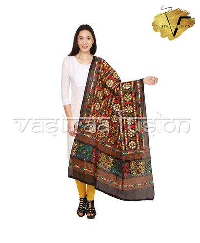 Ladies Talwar Pattern Aari Dupatta