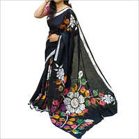Ladies Malmal Cotton Printed Saree