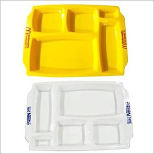 Lunch-Dinner Serving Plastic Tray