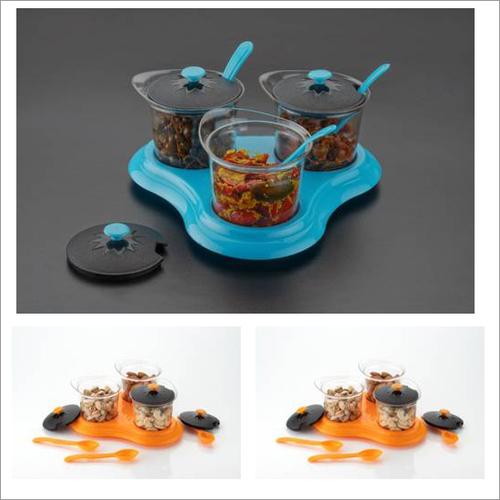 Metallic Multipurpose Dining Set Of 3
