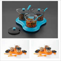 Metallic Multipurpose Dining Set Of 3