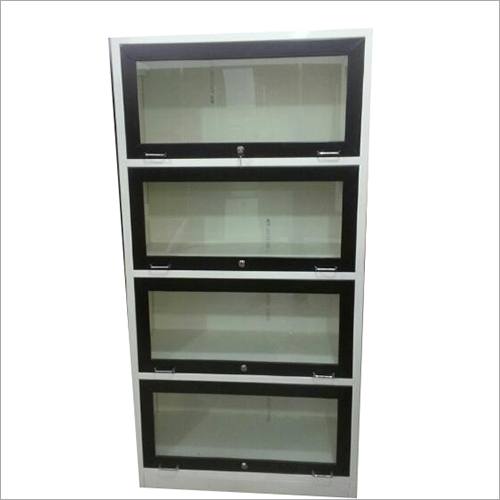 Glass Doors Metal Bookshelf