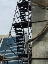 Staircase Scaffolding in cuplock system