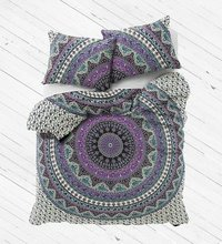 Indian Mandala Cotton Purple Round Duvet Cover