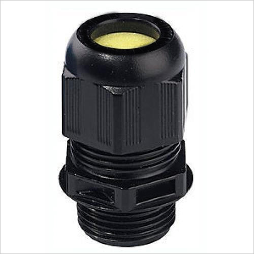 Weatherproof Black Plastic Cable Gland