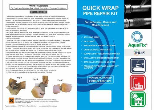 Aquafix Pipe Repair Kit 100mm wide x 4.5m long