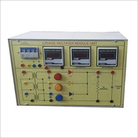 Al-e310 Three Phase Half Wave Uncontrolled Rectifier Trainer