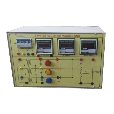 AL-E313 THREE PHASE HALF-FULL WAVE UNCONTROLLED RECTIFIER TRAINER