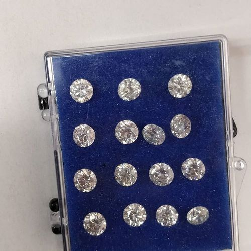 Cvd Diamond 2.20mm to 2.30mm GHI VVS VS Round Brilliant Cut Lab Grown HPHT Loose Stones TCW 1