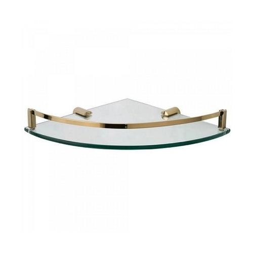 Brass Glass Shelf Corner
