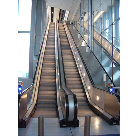 Escalator With Railing