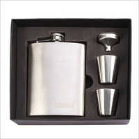Steel Hip Flask Set With Peg Measure And Funnel