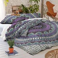 Indian Mandala Cotton Purple Round Duvet Cover