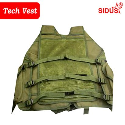 Olive Green And Camouflage Military Tech Vest