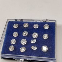 Cvd Diamond 3.40mm to 3.50mm GHI VVS VS Round Brilliant Cut Lab Grown HPHT Loose Stones TCW 1