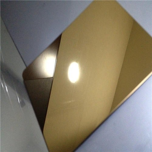 Stainless Steel Gold Linen Finish Sheets
