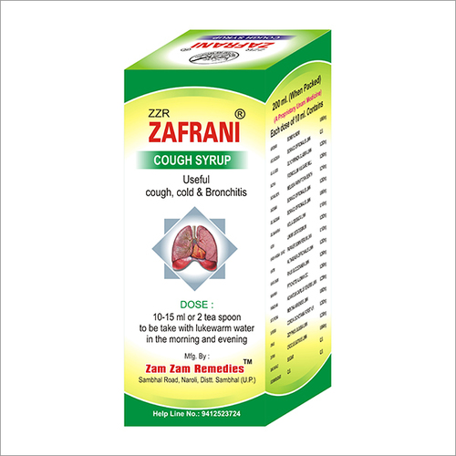 200ml Zafrani Cough Syrup