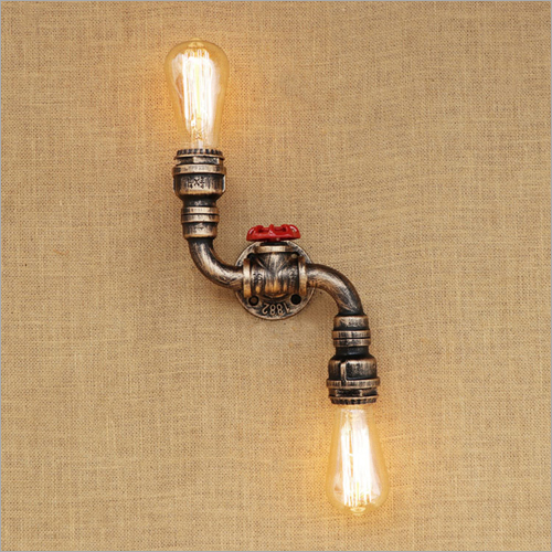 Retro Water Pipe Wall Mounted Lamp