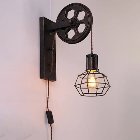 Retro Iron Wall Sconce Pulley Wall Lamp