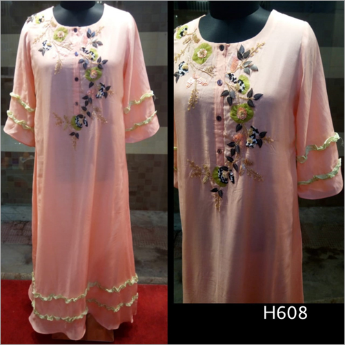 Embroidered Long Kurti