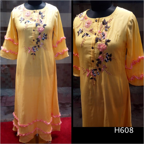Full Length Embroidered Kurti