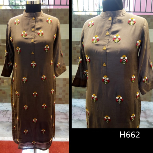 Heavy Embroidered Long Kurti