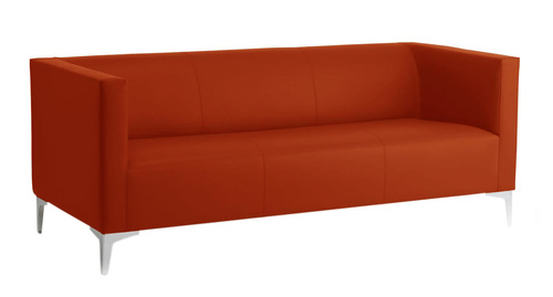 Reception Three Seater Cushion Fabric Sofa