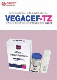 Ceftriaxone 250mg +Tazobactam 31.25mg Injection