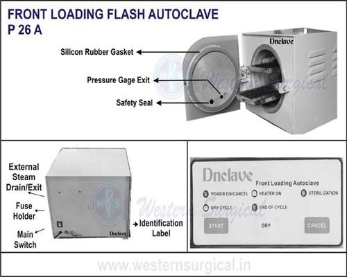 Front Lodading Flash Autoclave
