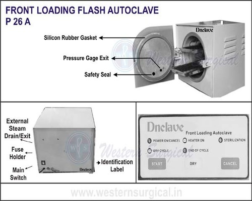 Front Lodading Flash Autoclave